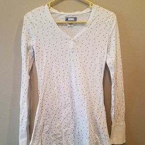 New American Eagle Aerie white top with gold stars
